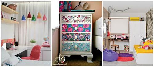 Decoração: móveis coloridos no quarto
