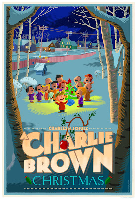 A Charlie Brown Christmas Screen Print Variant by Laurent Durieux