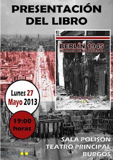 cartel presentacion berlin1945 mi diario de un infierno daniel ortega del pozo