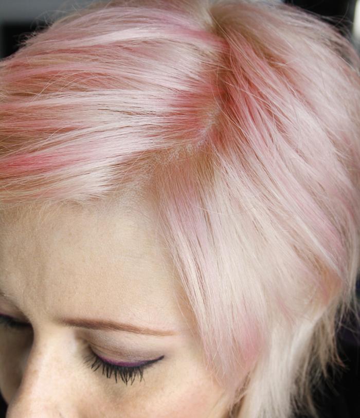 jude makeup transfo cheveux retour au blond ros pastel. Black Bedroom Furniture Sets. Home Design Ideas