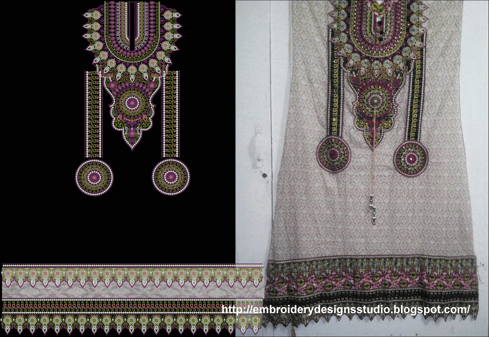 Punjabi Suit Heavy Embroidery Designs  Embroidery Designs