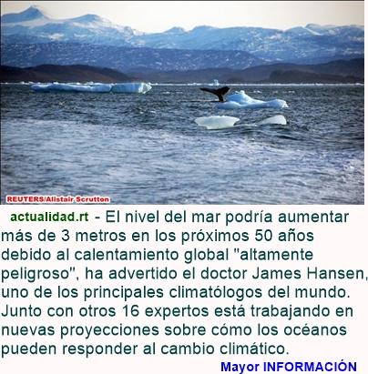 """MUNDO: """"Alto peligro"""": Nivel del mar podría aumentar más de tres metros en medio siglo"""