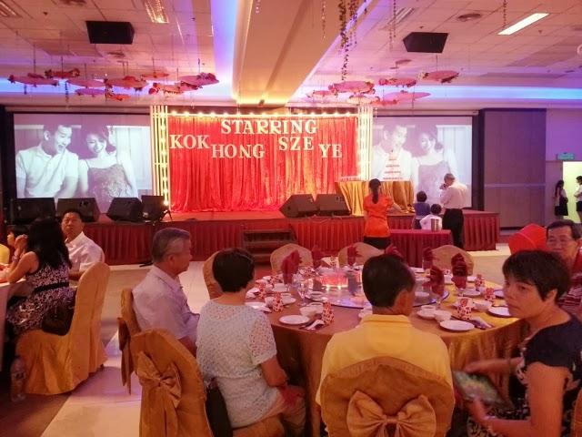 A cinema and policethemed wedding in muar yong sheng hall big junglespirit Gallery