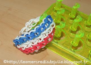 http://lesmercredisdejulie.blogspot.fr/2014/06/kit-loom-bracelet-tricolore-special.html
