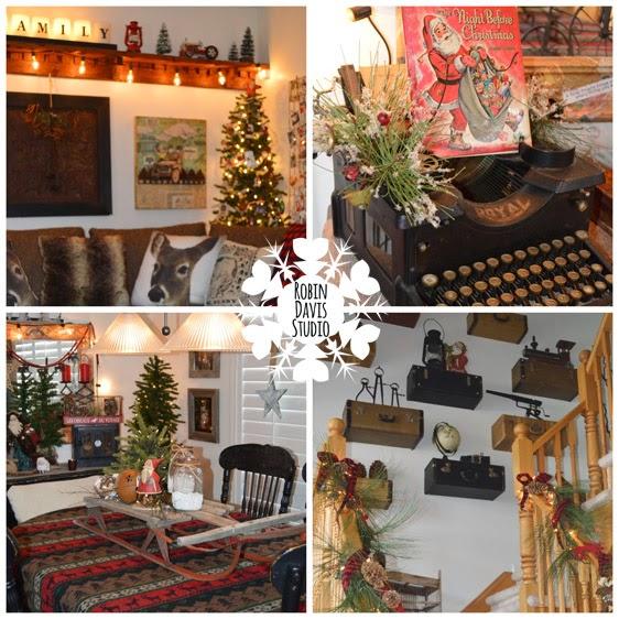 Old sleighs, edison lights & more - love Christmas | Robin Davis Studio