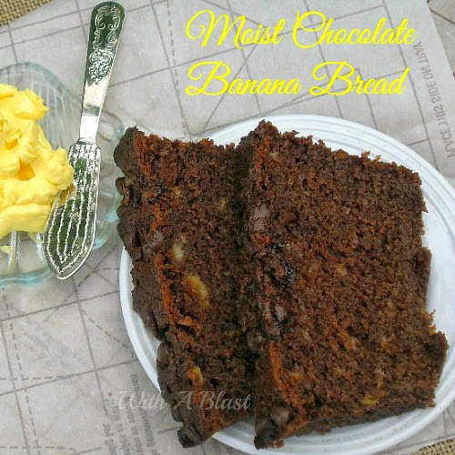 Moist Chocolate Banana Bread - #BananaBread #ChocolateBread #SweetTreats #TeaTimeTreats #Desserts