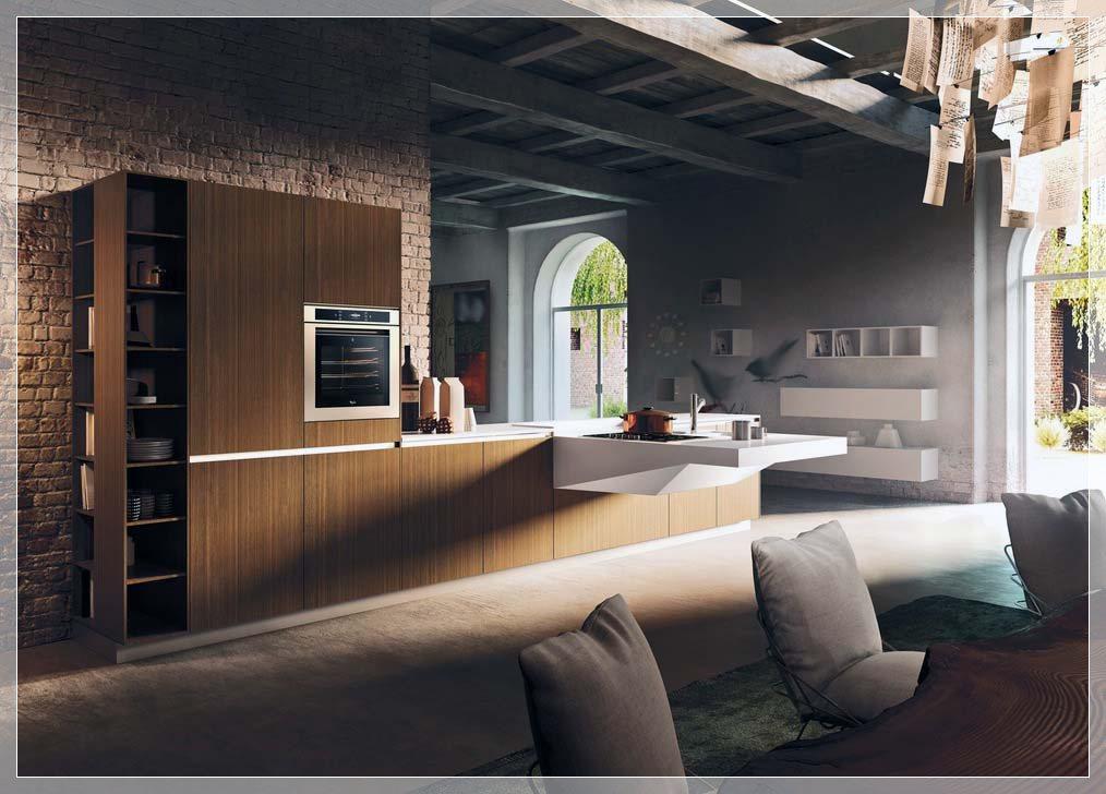 Moderne italiensk kjøkken fra Snaidero - interiør inspirasjon