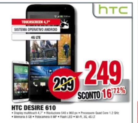 Prezzo più basso per lo smartphone Htc Desire 610 da Comet