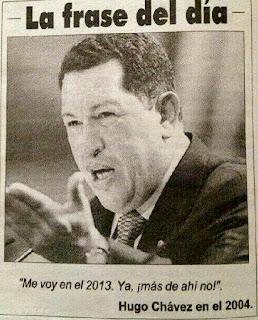 chavez diciendo que se va el 2013