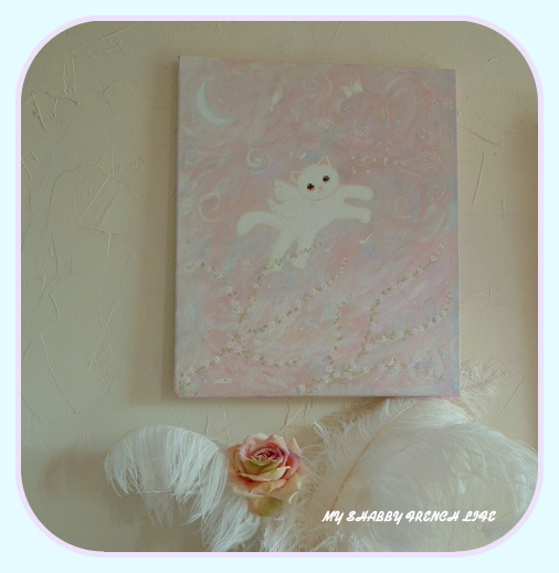 my shabby french life l 39 ange du printemps spring cat angel. Black Bedroom Furniture Sets. Home Design Ideas