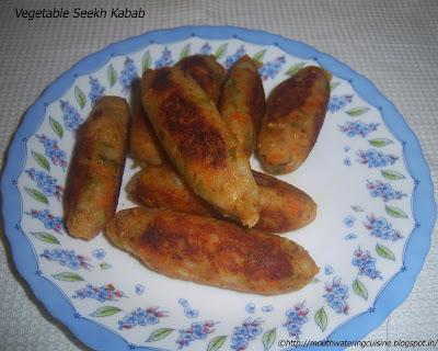 Vegetable Seekh Kabab