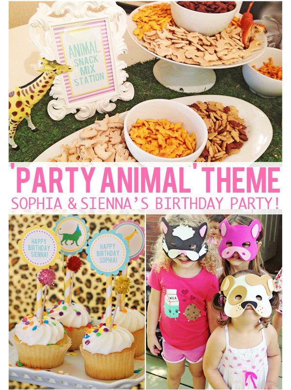 The Girls PARTY ANIMAL 3rd 5th Birthday Party At Home With