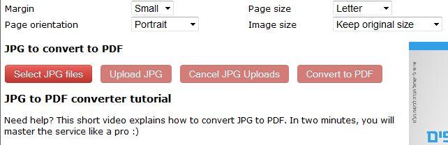 המרת קובץ jpg לקובץ pdf