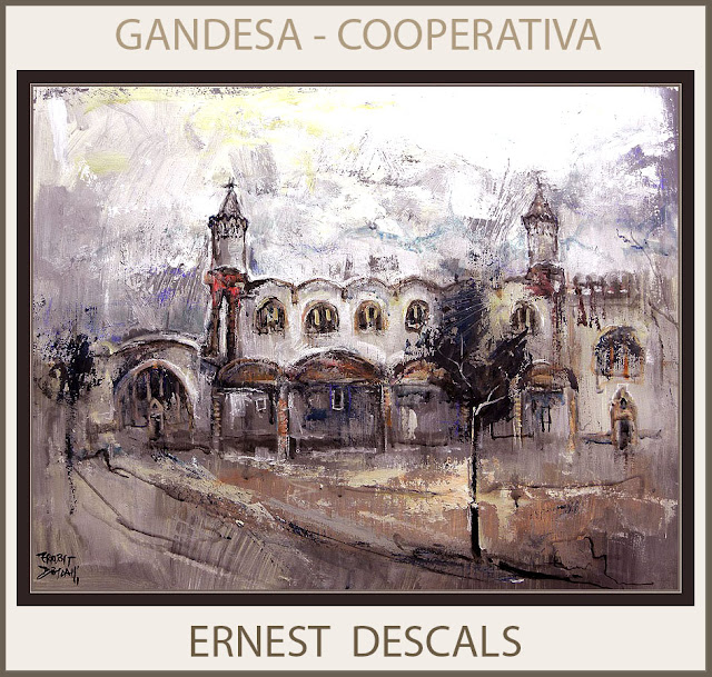 GANDESA-COOPERATIVA-PINTURA-TERRA ALTA-CATALUNYA-PAISATGES-TARRAGONA-PINTOR-ERNEST DESCALS