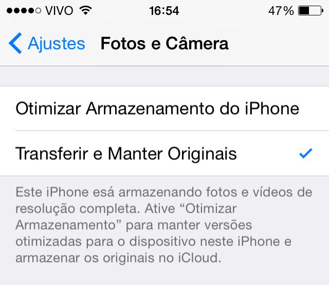 Fotos e Cãmera iOS 8