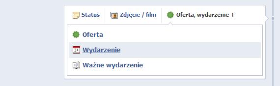 screenshot wydarzenia z Facebooka
