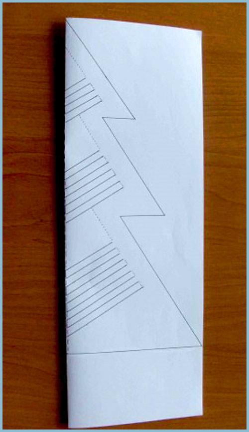 елочка из бумаги своими руками