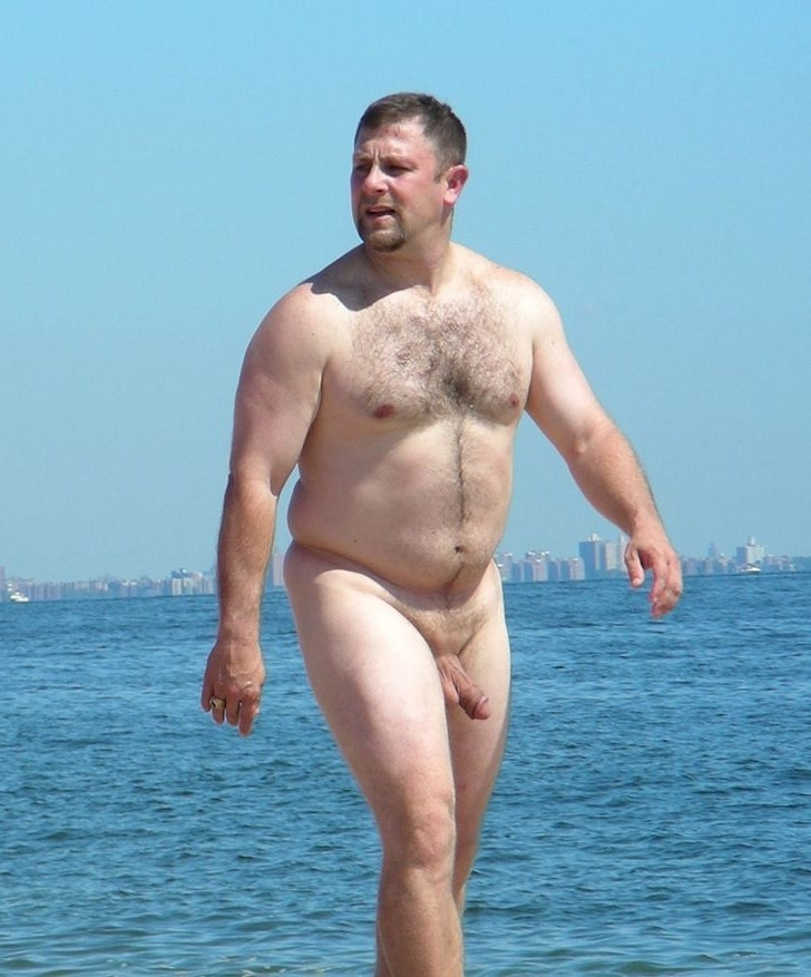 Beach bear daddy nude