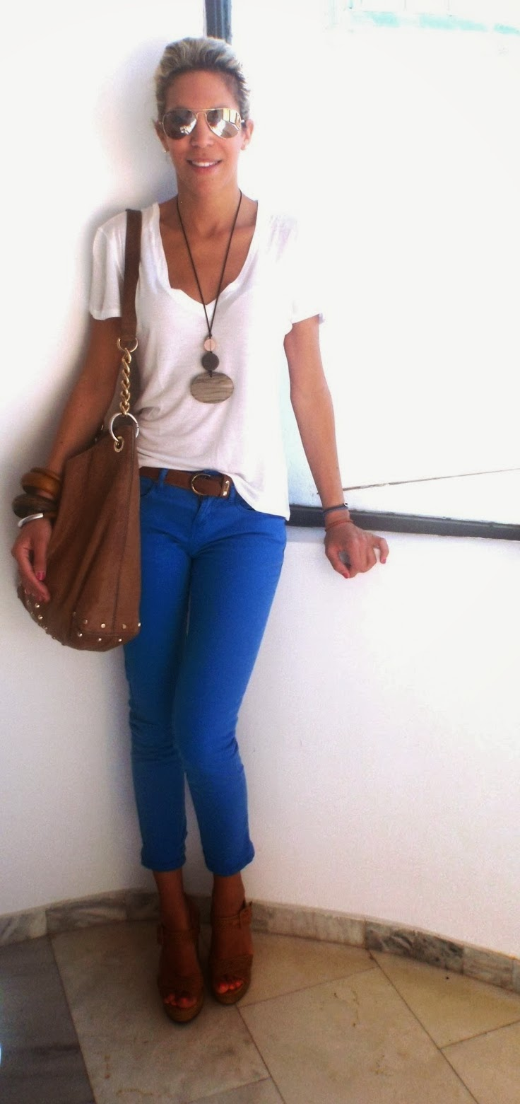 Cobalt blue pants