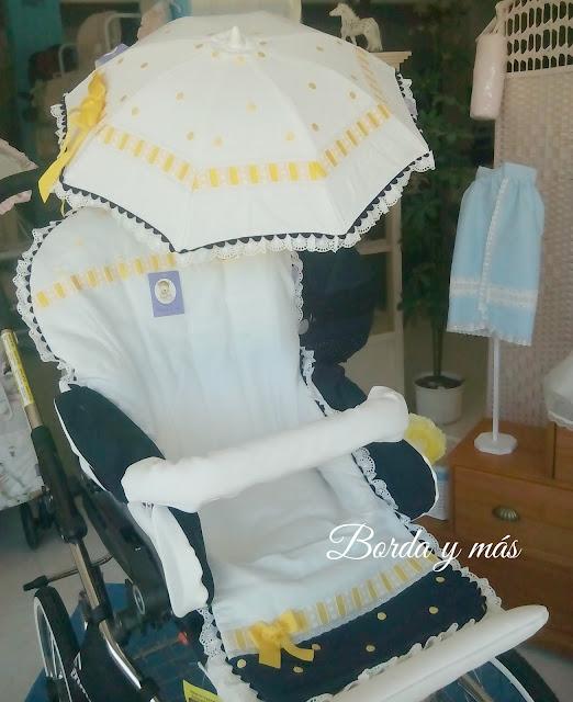 Colchoneta, sombrilla y bolsa para silla Emmaljunga