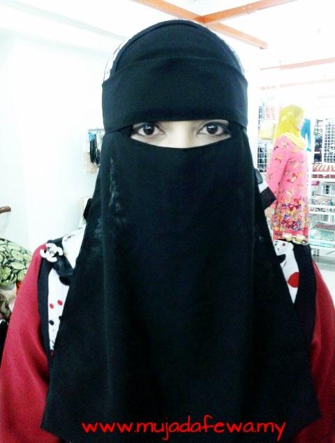 tudung labuh, niqab, purdah, niqab's collection, muja berniqab
