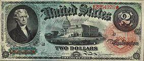 2 долларов 1963 года: