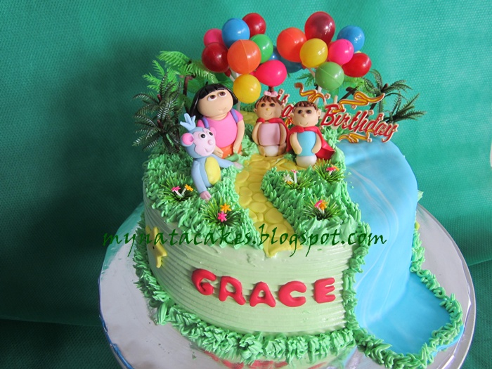 Mynata Cakes: Dora birthday cakes for Grace