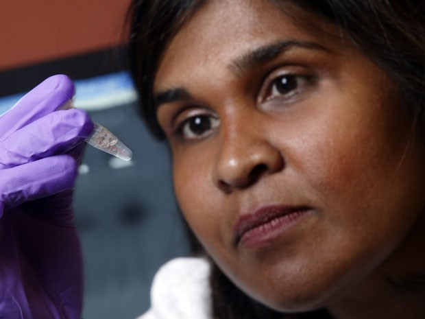 A virologista Deborah Persaud, coordenadora do estudo (Foto: AP Photo/Johns Hopkins Medicine)