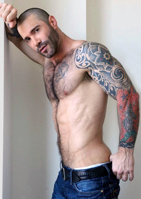 Incredible Hairy Chest Men , Muscular Daddy Hunks - Photos Set 6