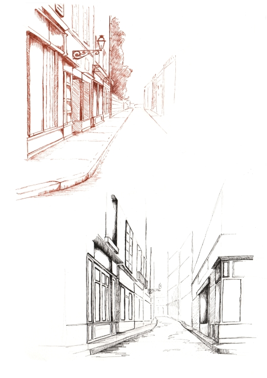 manu lafay decors rues encre stylo