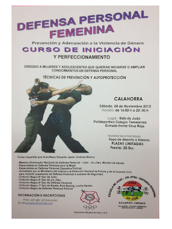 CURSO DEFENSA PERSONAL FEMENINA. CALAHORRA 24-11-2012