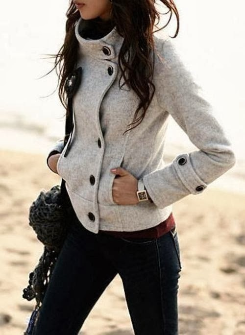 Modern, Sports Grey Jacket with Navy Blue Jeans, Accessories, Fashion for Style