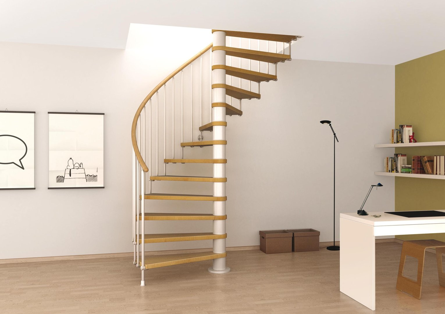 Glass spiral staircase innovative for indoor my staircase gallery - Staircase designs for small spaces set ...