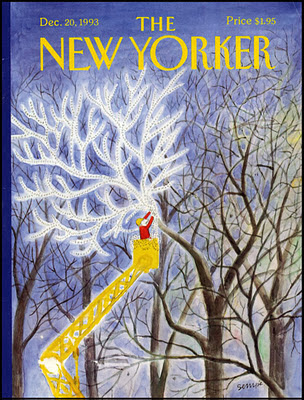 chrsitmas cover illustration by Sempe for the new yorker