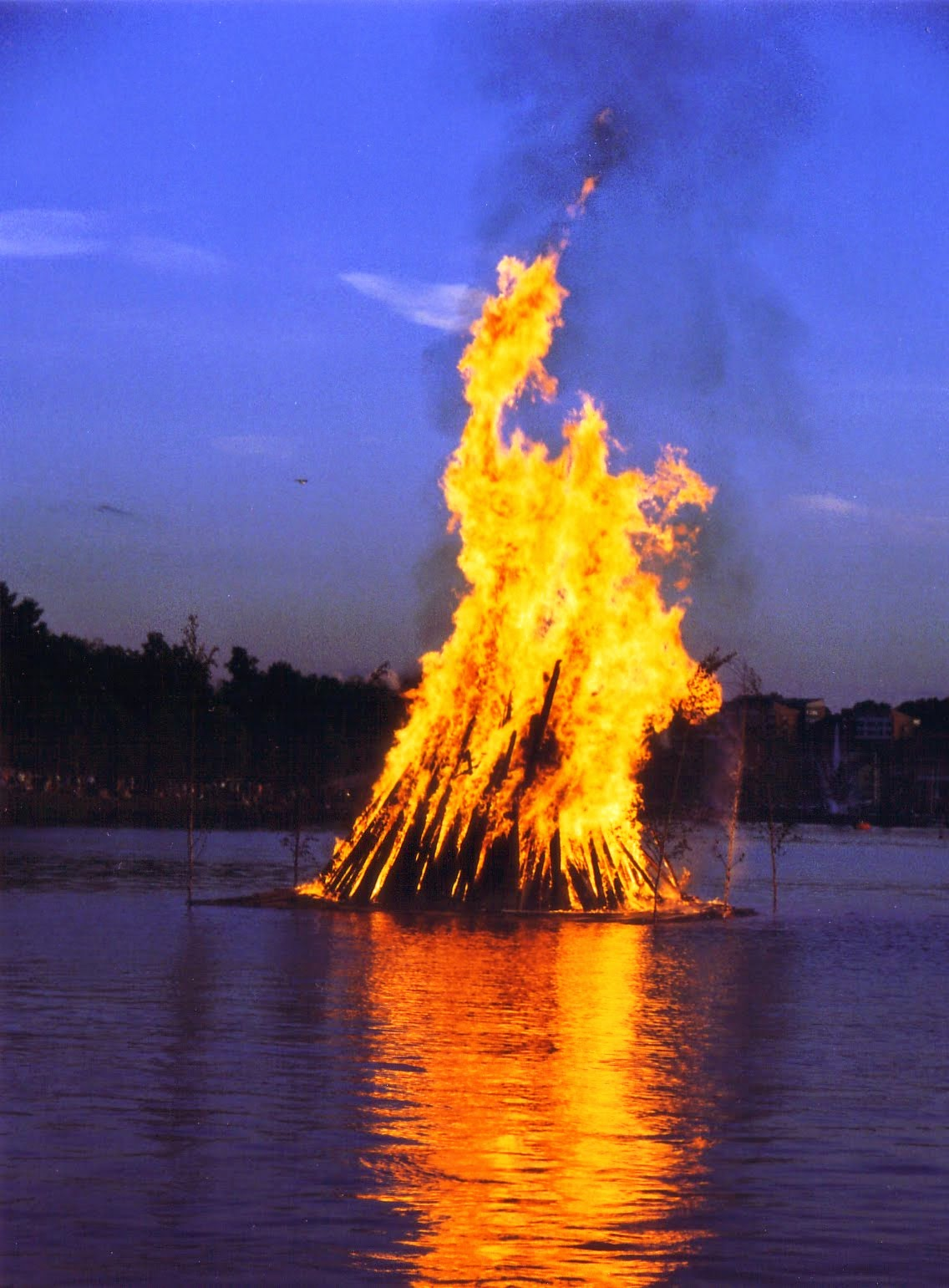 midsummer bonfire...