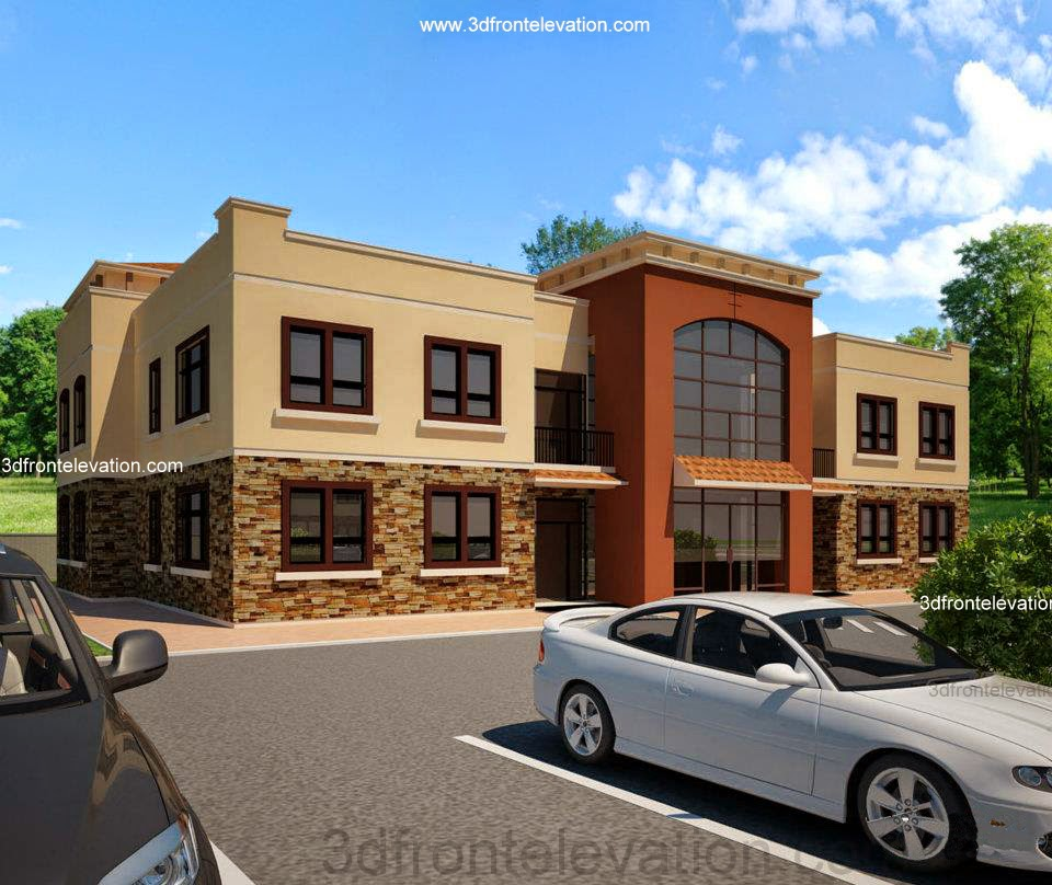 Front Elevation Of Small Office : D front elevation town housing society plan