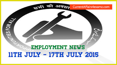 Employment News July 2015