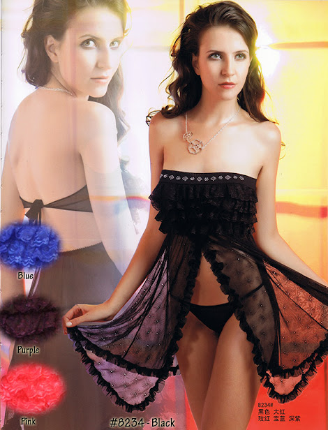 8234 : BLACK only, Free Size (Size Fits Most S, M & L) with G-String before RM 49 now only RM 39 !!