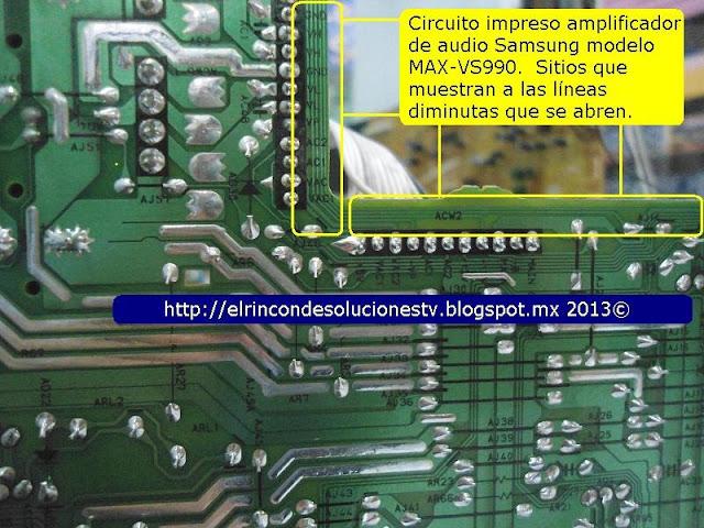 Circuito Impreso De Amplificador De 3000w : El rincón de soluciones tv samsung max vs