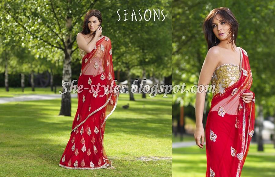 Seasons Designer Wear Indian Stylish Saree Fashion