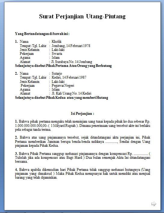Contoh surat perjanjian lengkap 2013 gudang info gudang download contoh surat perjanjian altavistaventures Gallery