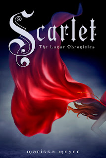 Cover art for Scarlet by Marissa Meyer