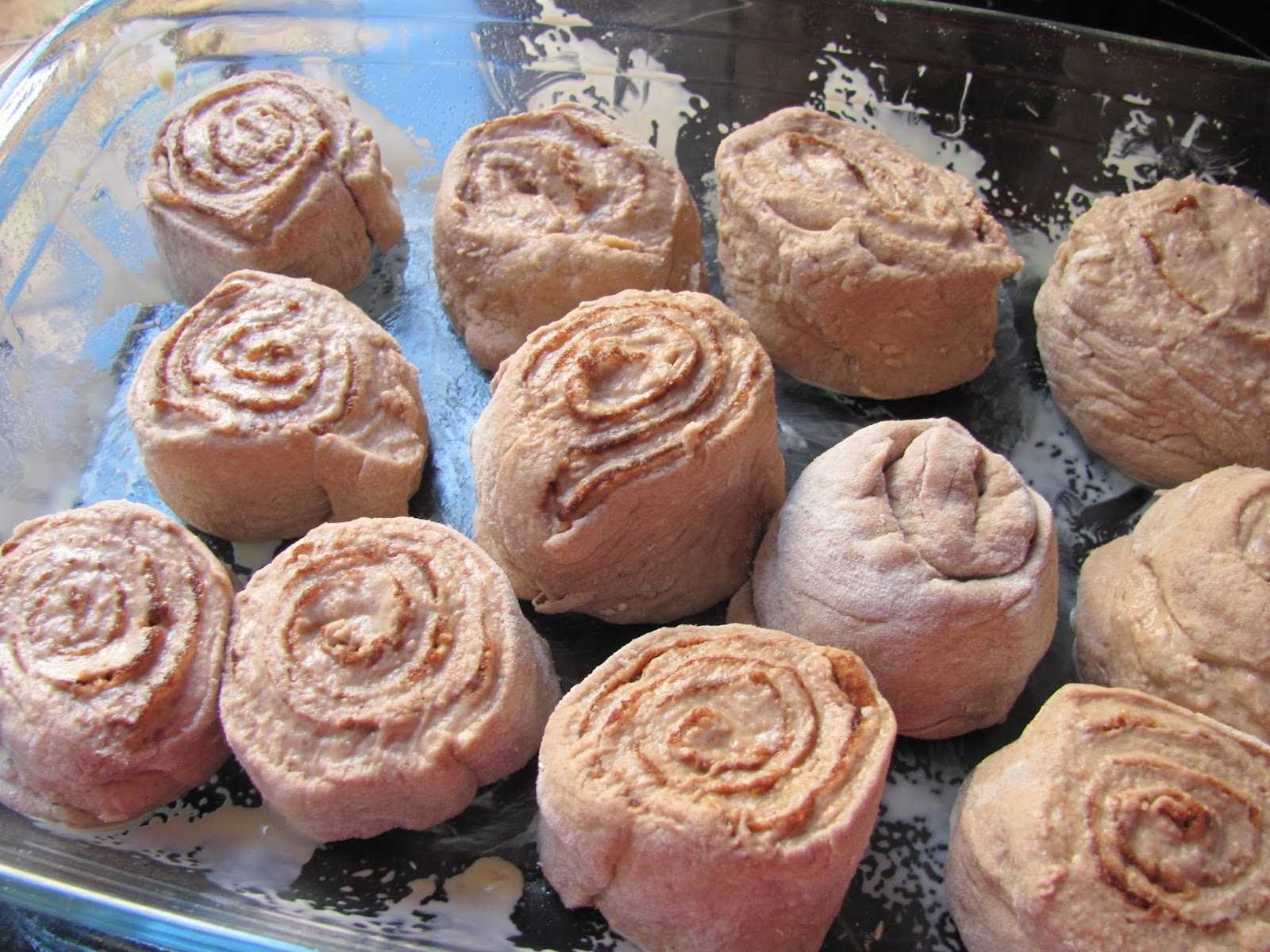 Arranging Cinnamon Rolls
