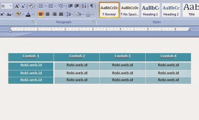 contoh-tabel-microsoft-word