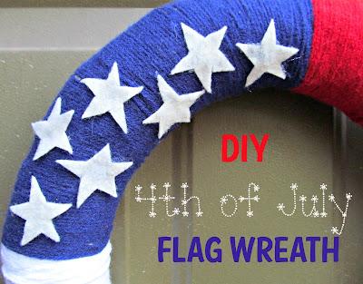 DIY 4th of July Wreath from It's Always Ruetten