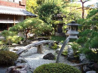 foto jardn japons con linterna de piedra - Jardines Japoneses