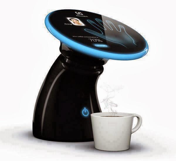 صنع القهوة الخاصة بك تعمل على بصمة يدك