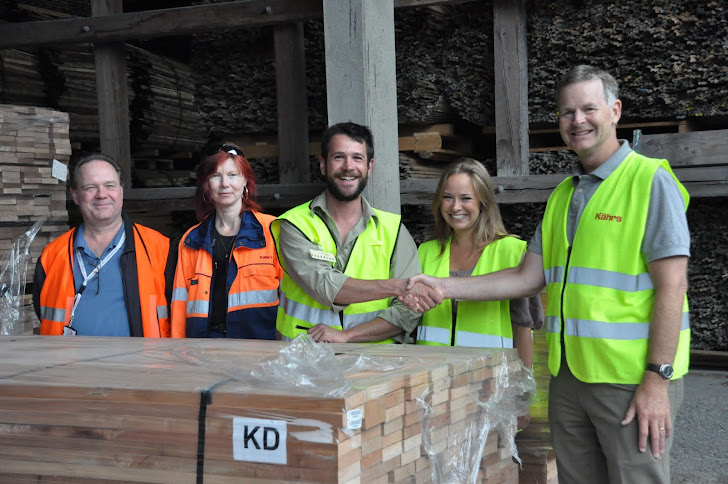 First FSC and Fairtrade Certified Wood Arrives at Kährs, Nybro, Sweden