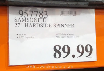 Deal for the Samsonite 27 inch Hardside Protection Spinner Luggage at Costco
