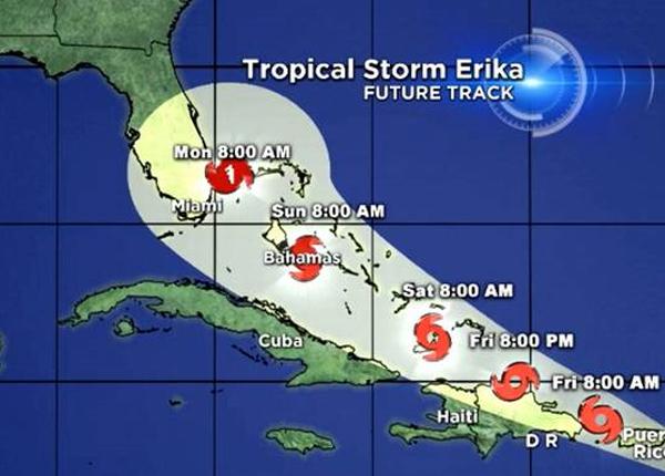 Aerolíneas cancelan vuelos a las Islas del Caribe por tormenta Erika